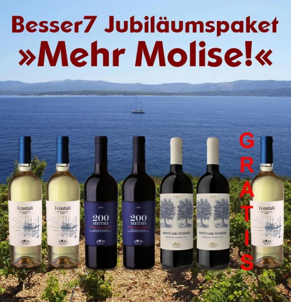 Besser7 Jubiläumspaket 6+1 »Mehr Molise!«