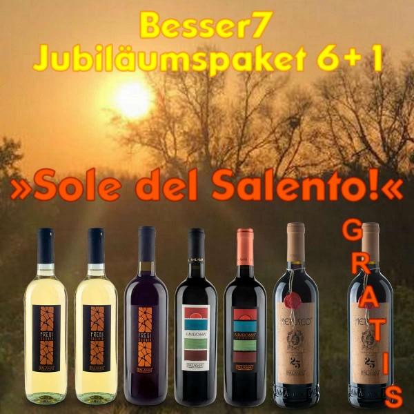 Besser7 Jubiläumspaket 6+1 »Sole del Salento!«