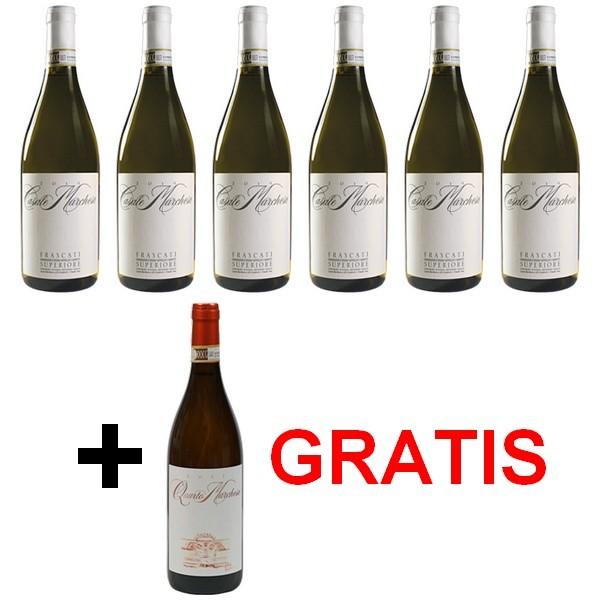 Besser7 Jubiläumspaket 6+1 »Frascati – Wein der Ewigen Stadt!«