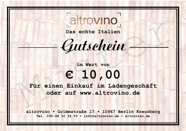 Geschenkgutschein € 10,00
