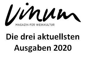 VINUM Magazin für Weinkultur, die 3 aktuellsten Ausgaben 2020