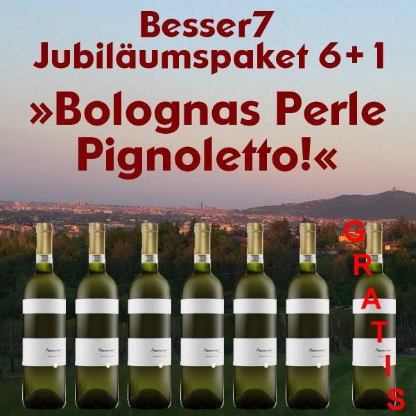 Besser7 Jubiläumspaket 6+1 »Bolognas Perle Pignoletto!«