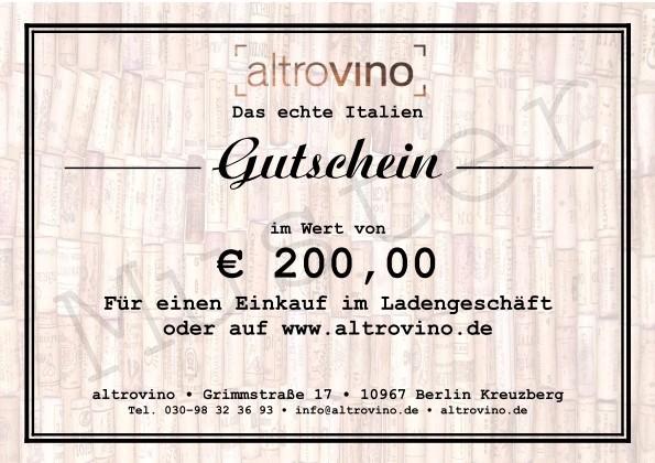 Geschenkgutschein € 200,00